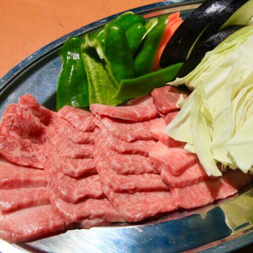 飛騨牛のBBQセット野菜付き