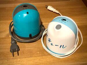備え付けの2つの電気式蚊取り線香