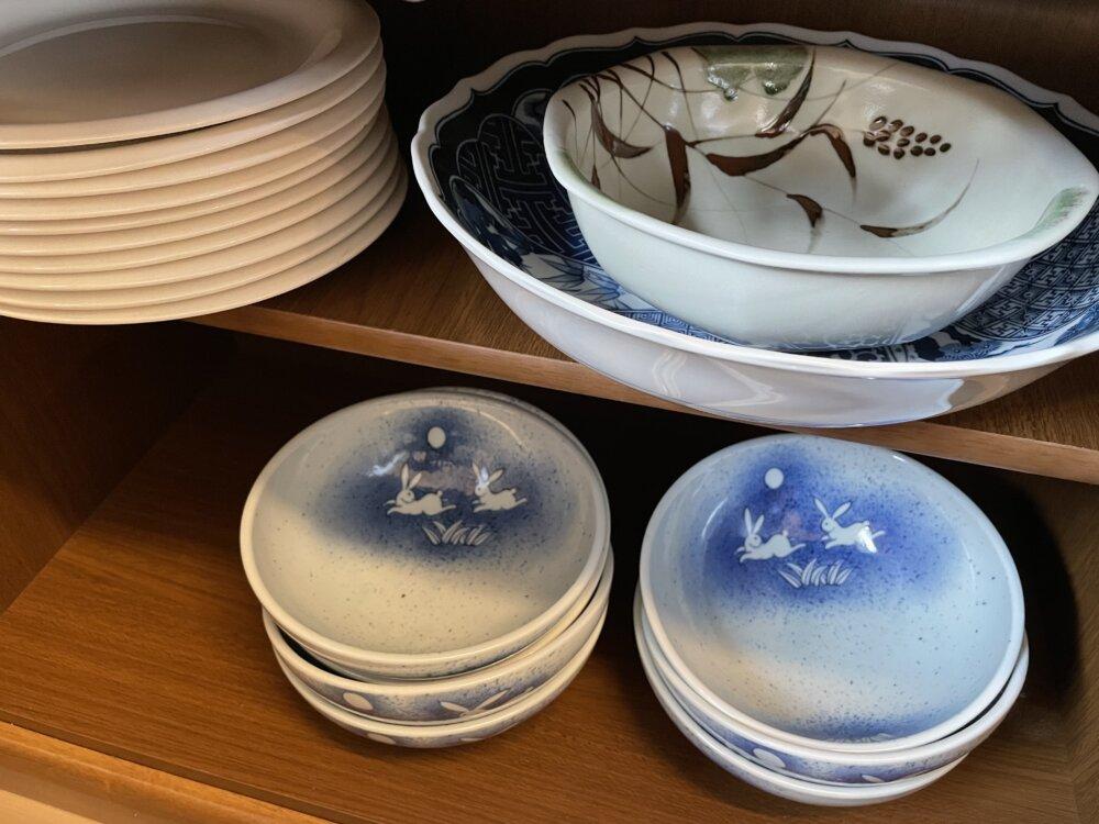 和風の大小の皿